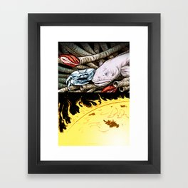 Life on the event horizon 2 Framed Art Print