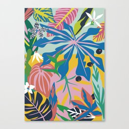 verde tropico Canvas Print