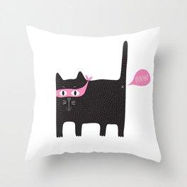 bad kitty PAW Throw Pillow