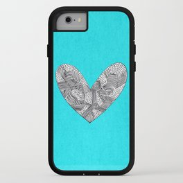 Patterned Heart iPhone Case