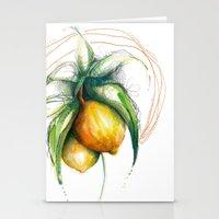 lemon Stationery Cards featuring Lemon by Alejandra Lara