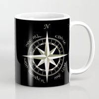tolkien Mugs featuring Not all those who wander are lost - J.R.R Tolkien - 2 by Augustinet