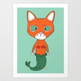 Catmermaid Art Print