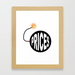 Prices Bomb And Lit Fuse Framed Art Print