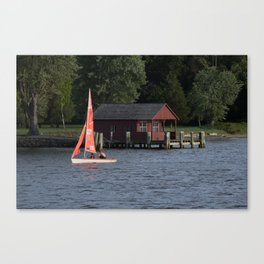 Boating on the Connecticut River Canvas Print
