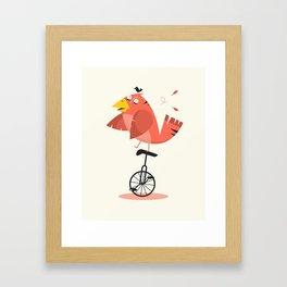 UNICYCLE BIRD Framed Art Print