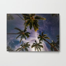 Palm Trees and Stars in Maui Metal Print