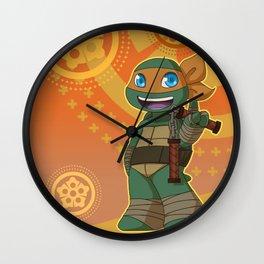 TMNT Chibi Mikey Wall Clock