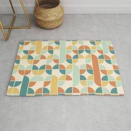 Mid Century Modern Geometric Pattern 1950s Colors Rug