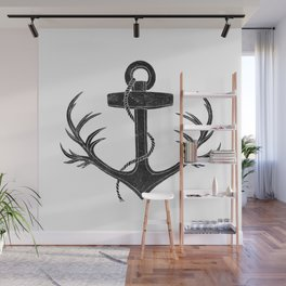 Antlered Anchor Wall Mural