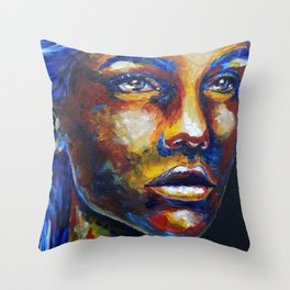 Speechless by carographic Throw Pillow