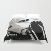 shinee Duvet Covers featuring SHINee's Onew by Worldandco