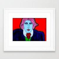 oscar wilde Framed Art Prints featuring Oscar Wilde by Pluto00Art / Robin Brennan