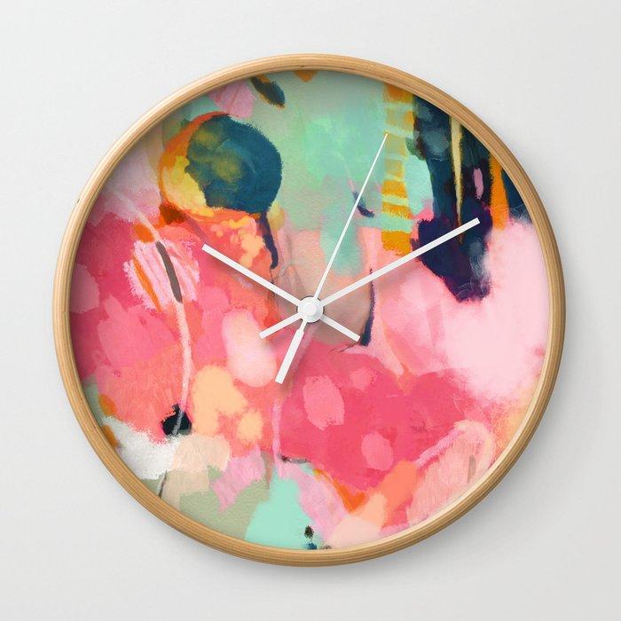 spring moon earth garden Wall Clock