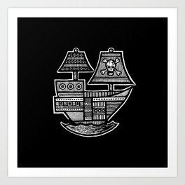 Pirate Ship - Hollow Soul Art Print