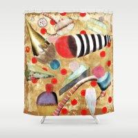dessert Shower Curtains featuring Watercolor Dessert by Ruth Fitta Schulz
