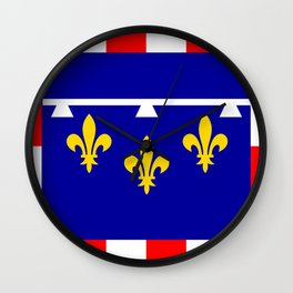 Centre france country region flag Wall Clock