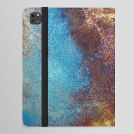 Philip Bowman Red, Blue And Gold Modern Abstract Art Painting iPad Folio Case