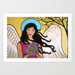 Whimsical Angel Grace Painting Art Print