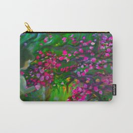 Little Girl Picking Flowers For Mom Carry-All Pouch