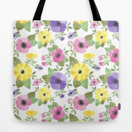 Spring Bouquet Watercolor Tote Bag