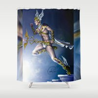 versace Shower Curtains featuring VERSACE GOD by CARLOSGZZ