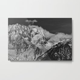 Mountains above Courchevel Metal Print
