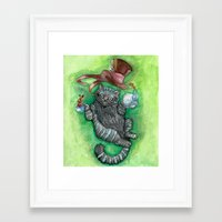cheshire cat Framed Art Prints featuring Cheshire by Gaab D'Amato