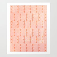 Triangles - Coral Art Print