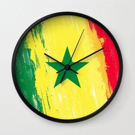 Senegal's Flag Design Wall Clock