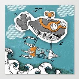 Steam Punk Fish  Canvas Print