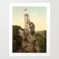 lichtenstein Art Prints featuring Lichtenstein Castle by BravuraMedia