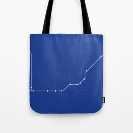 London Underground Piccadilly Line Route Tube Map Tote Bag