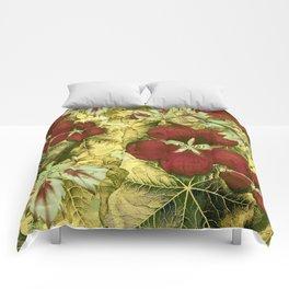 nasturtium with golden leaves Comforters