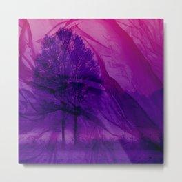 Winter through Pink Chiffon Metal Print