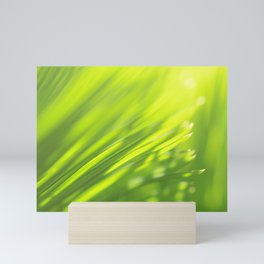 Palm tree leaves Tropical summer green yellow jungle Mini Art Print