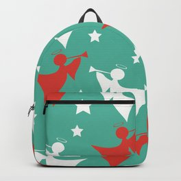 Christmas Pattern Angels Decoration Backpack