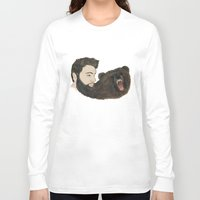 beard Long Sleeve T-shirts featuring BEARd by Casie Tanksley