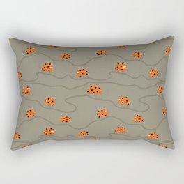 Orange ladybug rush - Fabric pattern Rectangular Pillow