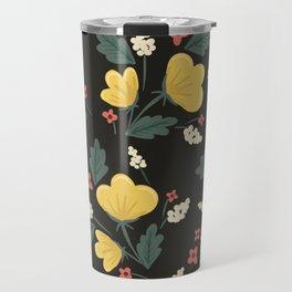 Marguerite Floral Print Travel Mug
