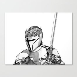 The Proud Knight Canvas Print
