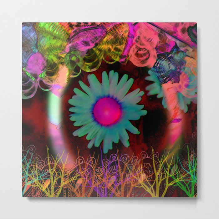 Tripping Daisies Metal Print