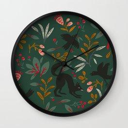 Crows Nest Evergreen Wall Clock