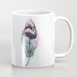AP078 Watercolor feather Coffee Mug