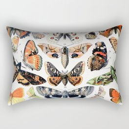 Adolphe Millot - Papillons A - French vintage poster Rectangular Pillow