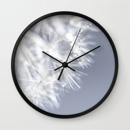 Sparkling dandelion with droplets - Flower water Wall Clock