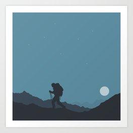 The Night Hiker Art Print