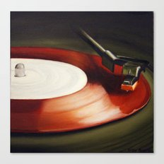 Red Record  Canvas Print