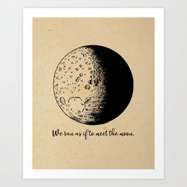 Robert Frost - Meet the Moon Art Print