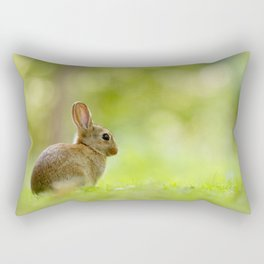 The Happy Rabbit Rectangular Pillow